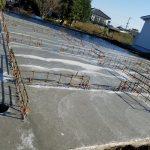 宮崎市、久永住建の基礎工事が始まりました